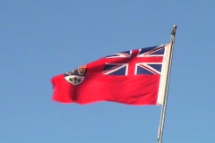 Red Ensign (Former Flag of Canada) Stock Footage