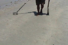 Metal Detector On The Beach Stock Footage