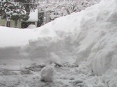 Shoveling Snow During A Heavy Blizzard Stock Footage