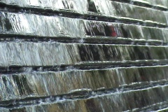 Sidewalk Wall Fountain Close Up Stock Footage
