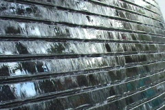 Sidewalk Wall Fountain Stock Footage