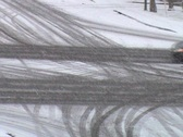 Stock Video Footage of Snowy Intersection In Blizzard