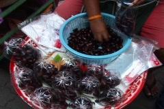 Street Vendor Selling Nuts In Bangkok Thailand Stock Footage
