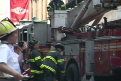 NYC Fire Department 6 In the Streets Stock Footage