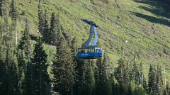 Snowbird resort tram at bottom P HD 0587 Stock Footage