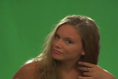 Beautiful Teen Blonde with a Blow Dryer-2 Stock Footage