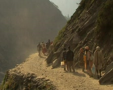 Pilgrimage to the holy Amarnath cave in the Himalayas Stock Footage