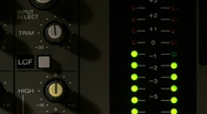 Stock Video Footage of Audio VU Meter 02