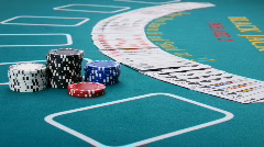 Poker Addiction Stock Footage
