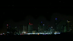 Tel Aviv at night  Stock Footage