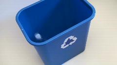 Recycle bin hig angle - HD  Stock Footage