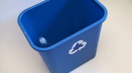 Stock Video Footage of Recycle bin hig angle - HD