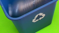 Recycle bin green screen - HD  Stock Footage