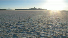 Salar de Uyuni sunset time lapse Stock Footage