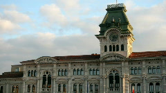 Trieste, Italy. Central square Stock Footage