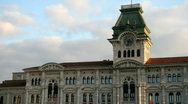 Stock Video Footage of Trieste, Italy. Central square
