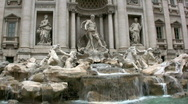 Stock Video Footage of Trevi Fountain, Rome.