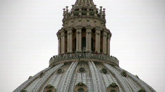 Saint Peter cupola, Rome - stock footage