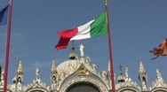 Stock Video Footage of Italian flag in Venice