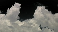 Stock Video Footage of Pre-keyed alpha channel clouds in time lapse - 1