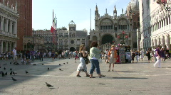 Saint Mark Square, Venice Stock Footage
