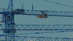 Building site cranes 4 Stock Footage