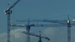 Building site cranes 3 - timelapse Stock Footage