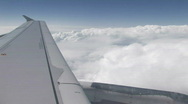 Airplane window view - the wing Stock Footage