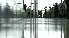 Passengers at the airport 11 Stock Footage