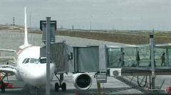 Jet bridge at the airport 3 Stock Footage