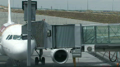 Jet bridge at the airport 2 Stock Footage