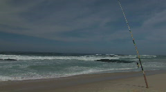 Angling in the ocean 2 Stock Footage