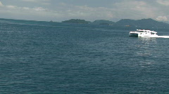Sea from ferry 2 Stock Footage