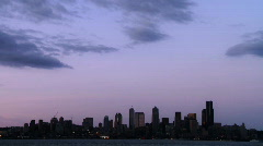 Seattle Skyline time lapse Stock Footage