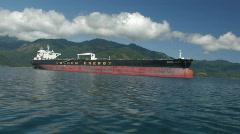 Huge industrial ship 1 Stock Footage