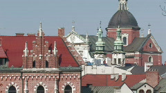 Krakow view 11 Stock Footage