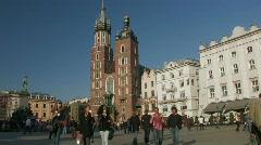 Krakow view 6 Stock Footage