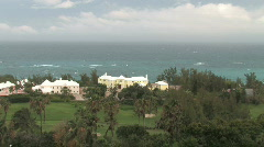 Oceanfront Mansion in the Caribbean - Bermuda - stock footage
