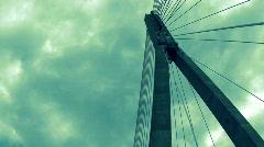 Modern bridge Stock Footage