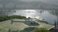 Stock Video Footage of Helicopter taking off in Rio de Janeiro