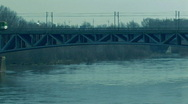 Stock Video Footage of Warsaw bridge 2