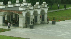 Unknown Soldier Memorial at the Pilsudski Square in Warsaw, Poland 2 Stock Footage