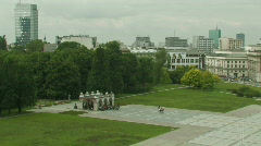 Unknown Soldier Memorial at the Pilsudski Square in Warsaw, Poland 1 Stock Footage