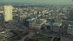 Downtown Warsaw aerial view 4 Stock Footage