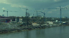 Warsaw building site Stock Footage