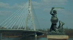 Warsaw Mermaid  Stock Footage