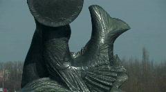 Mermaid symbol of Warsaw Stock Footage