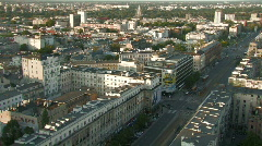 Warsaw view 1 - stock footage
