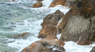Stock Video Footage of Waves fight about rocks in Black sea for a background
