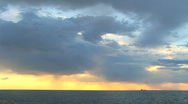 Stock Video Footage of Sunset against the black sea for a background